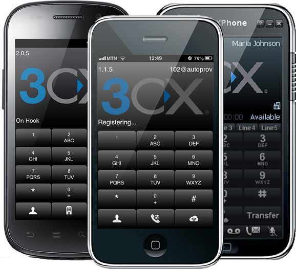 3CX mobile phone apps