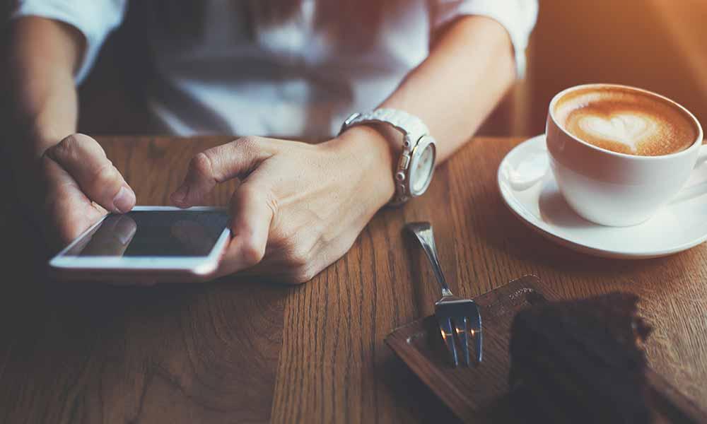 Free Wi-Fi in a Café