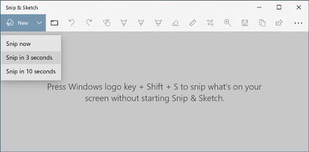 Snip Sketch Snipping Tool for Windows 10 Screenshot Utility